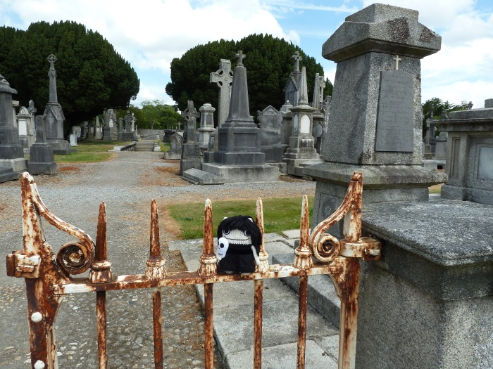 Goth Beastie in Glasnevin Cemetery, by CrawCrafts Beasties