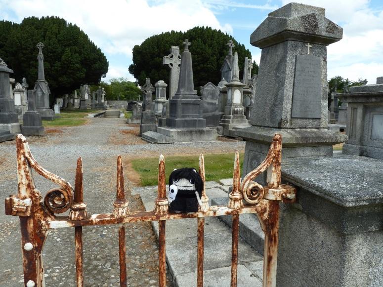 Goth Beastie in Glasnevin Cemetery, by CrawCrafts Beasties