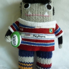 Big Tall Rugby Beastie, Ready for Action! CrawCrafts Beasties