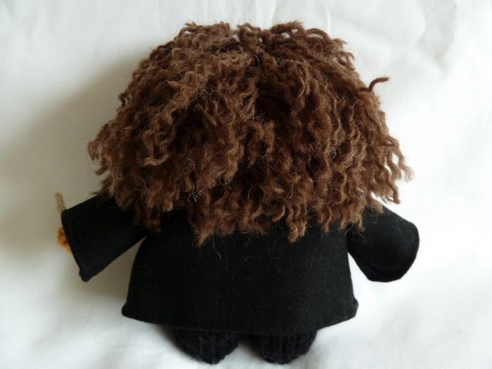 Hermione Beastie's Hair, Back View - CrawCrafts Beasties