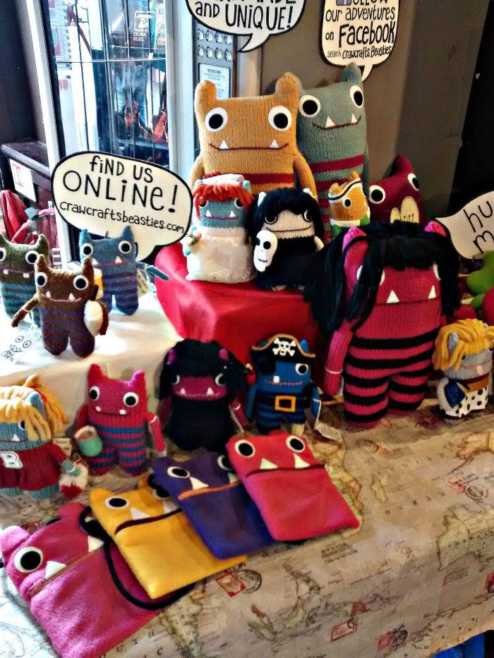 Beasties at the Ha'Penny Flea, Dublin - CrawCrafts Beasties