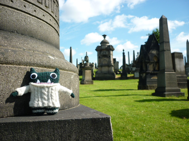 Paddy at the Glasgow Mausoleum - H Crawford/CrawCrafts Beasties
