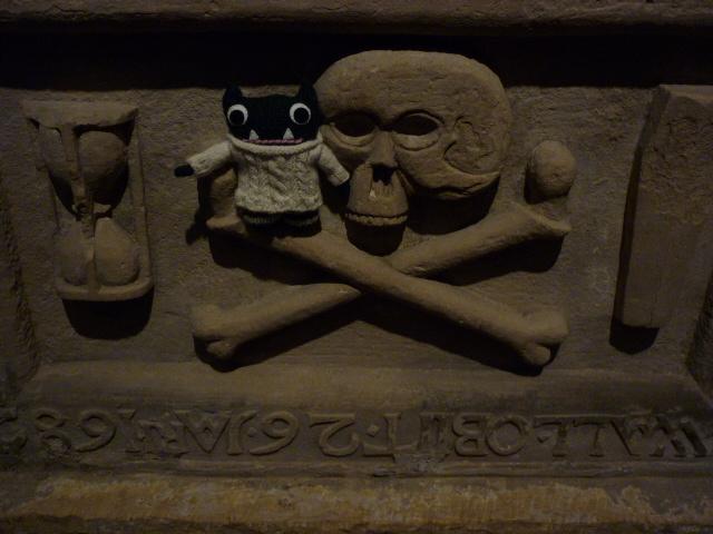 Paddy at St Magnus Cathedral, Kirkwall - H Crawford/CrawCrafts Beasties