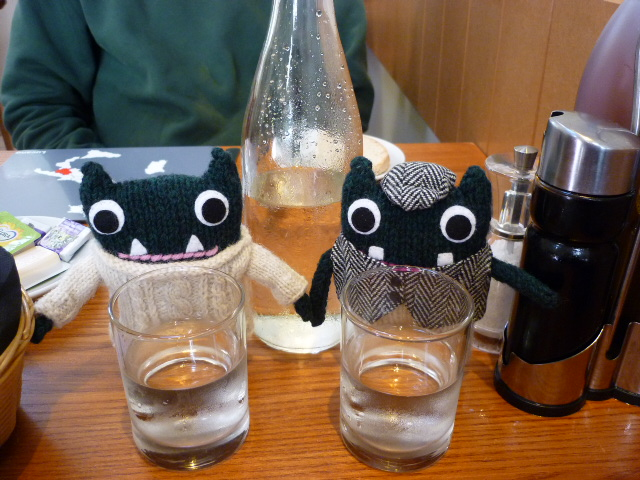 Paddy and Plunkett treat themselves to some liquid refreshment - H Crawford/CrawCrafts Beasties