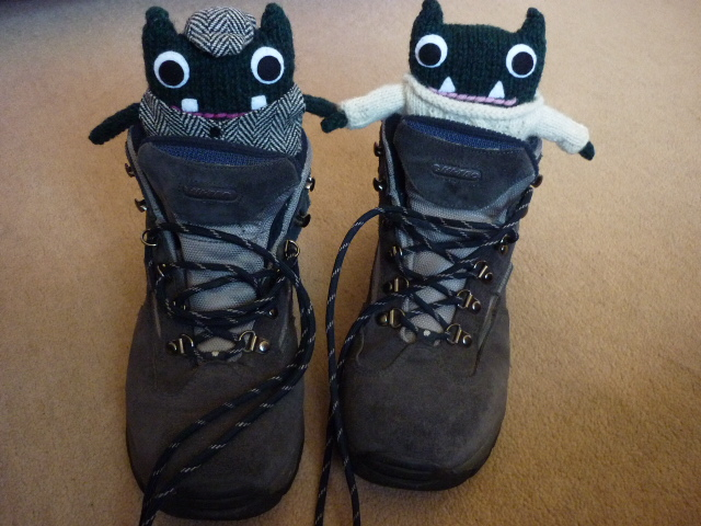Paddy and Plunkett get their hiking boots on - H Crawford/CrawCrafts Beasties