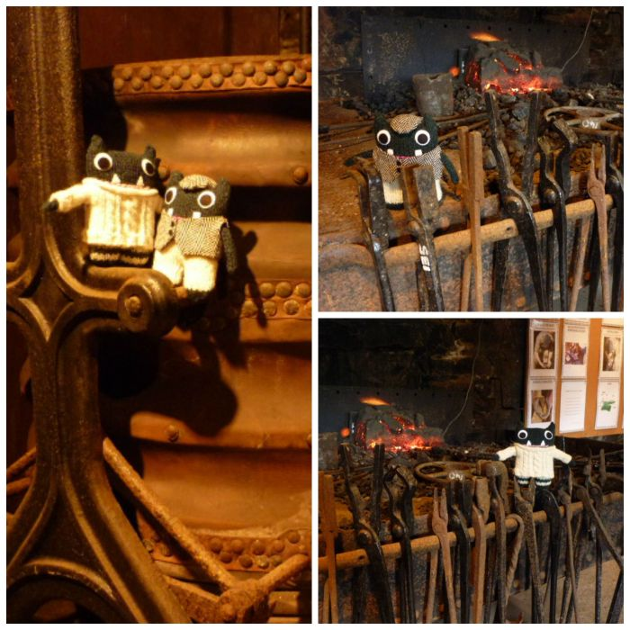 Paddy and Plunkett visit the blacksmith - H Crawford/CrawCrafts Beasties
