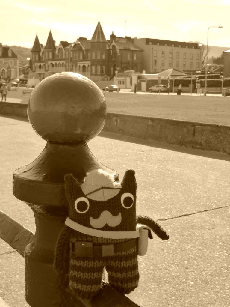 Victorian Explorer Beastie on the Promenade - CrawCrafts Beasties