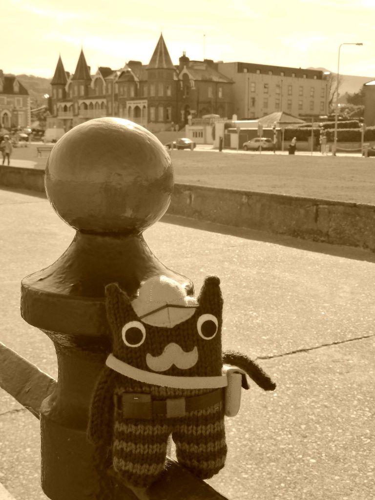 Victorian Explorer Beastie on the Promenade - CrawCrafts Beasties