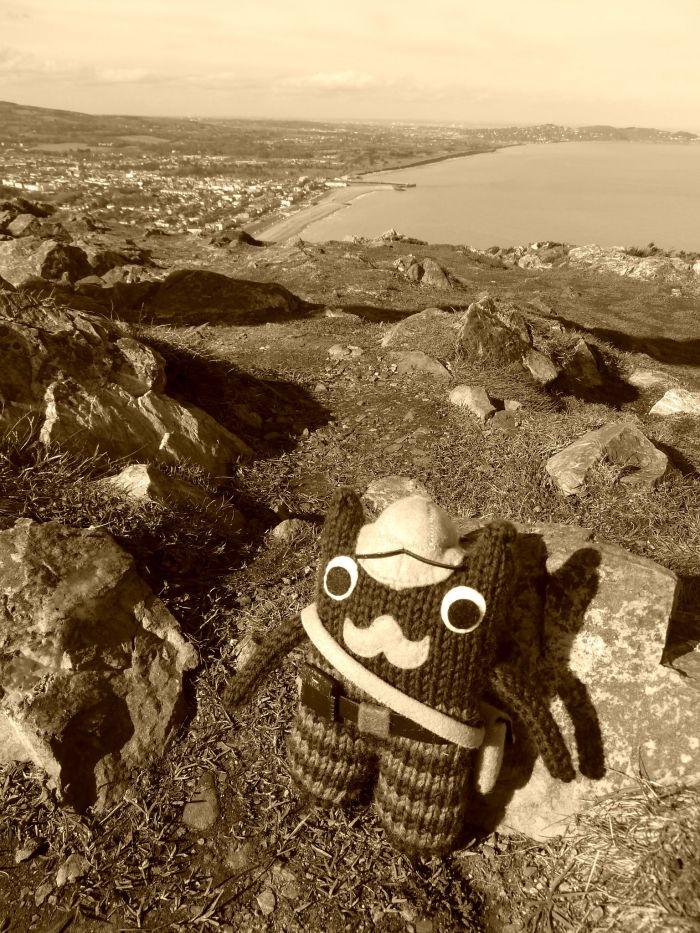 Victorian Explorer Beastie on Bray Head, by CrawCrafts Beasties