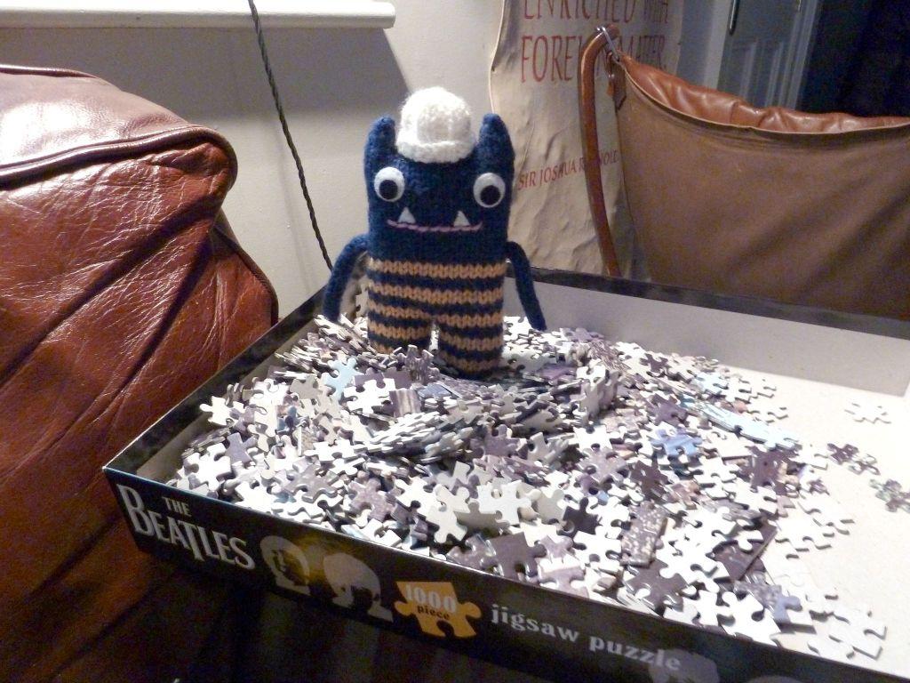 Explorer Beastie's Jigsaw, by CrawCrafts Beasties