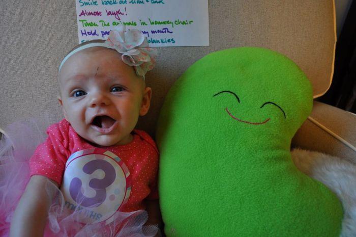 Giant Bean goes home - CrawCrafts Beasties