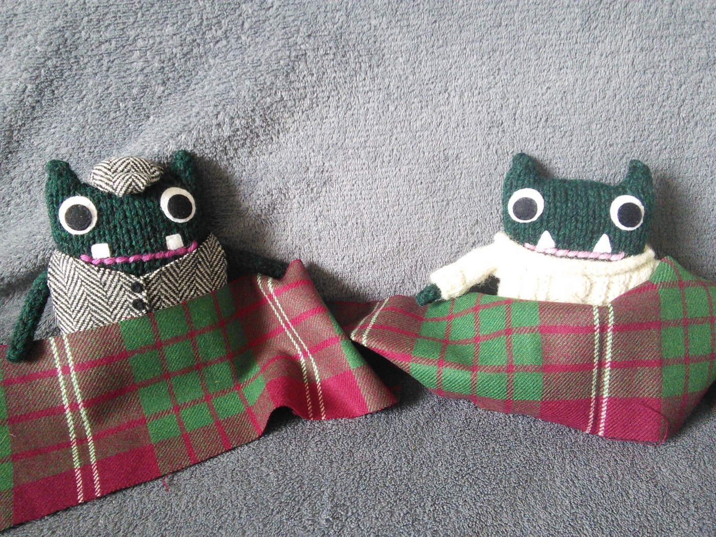 Paddy and Plunkett's Gift From Scotland - CrawCrafts Beasties