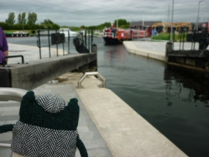 Plunkett, still watching the lock gate - H Crawford/CrawCrafts Beasties