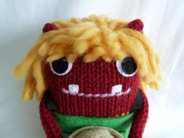 Red Piemaker Beastie - CrawCrafts Beasties