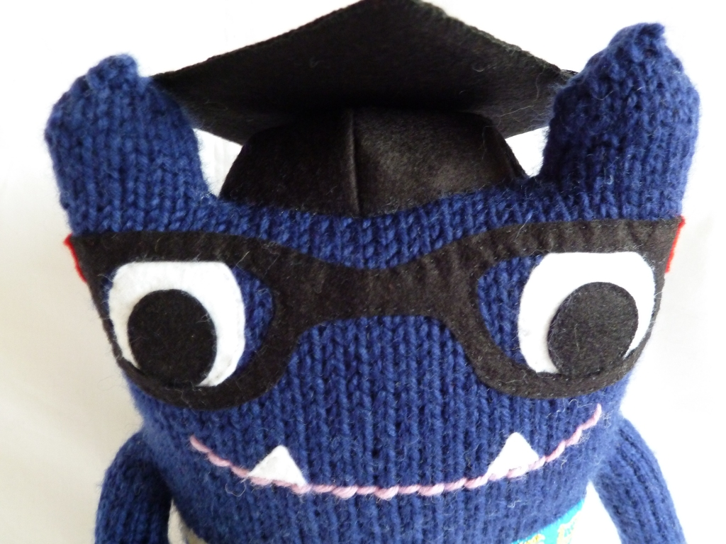 Big Beastie, Ready for Graduation - CrawCrafts Beasties