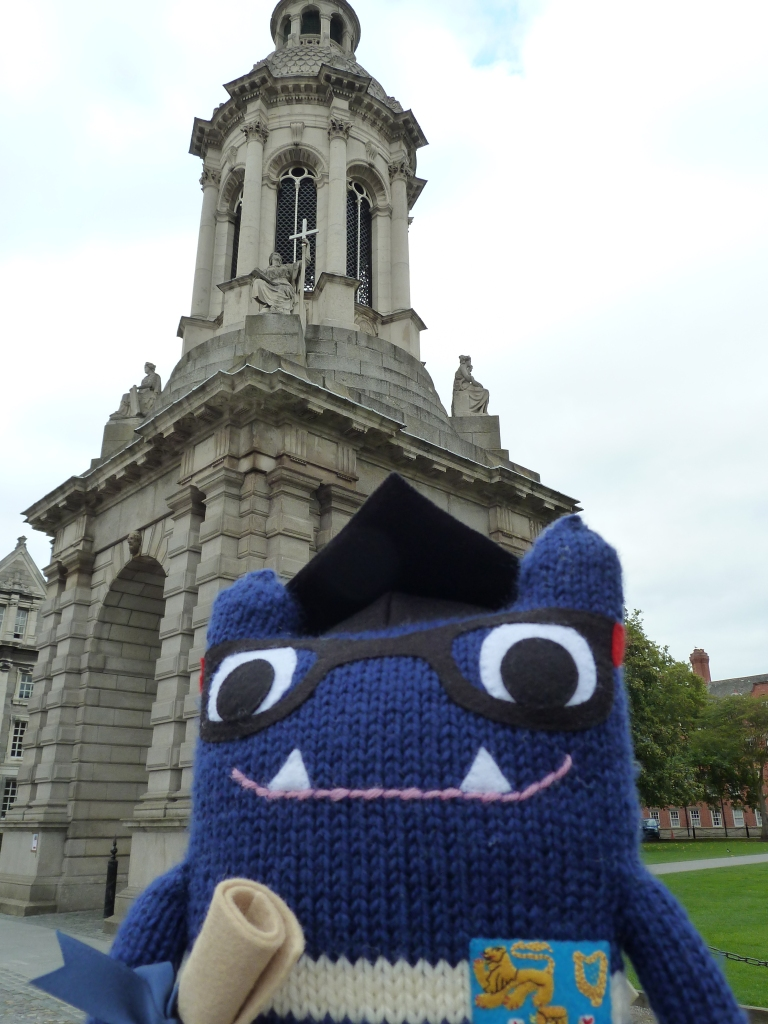 Trinity Beastie at the Campanile - CrawCrafts Beasties
