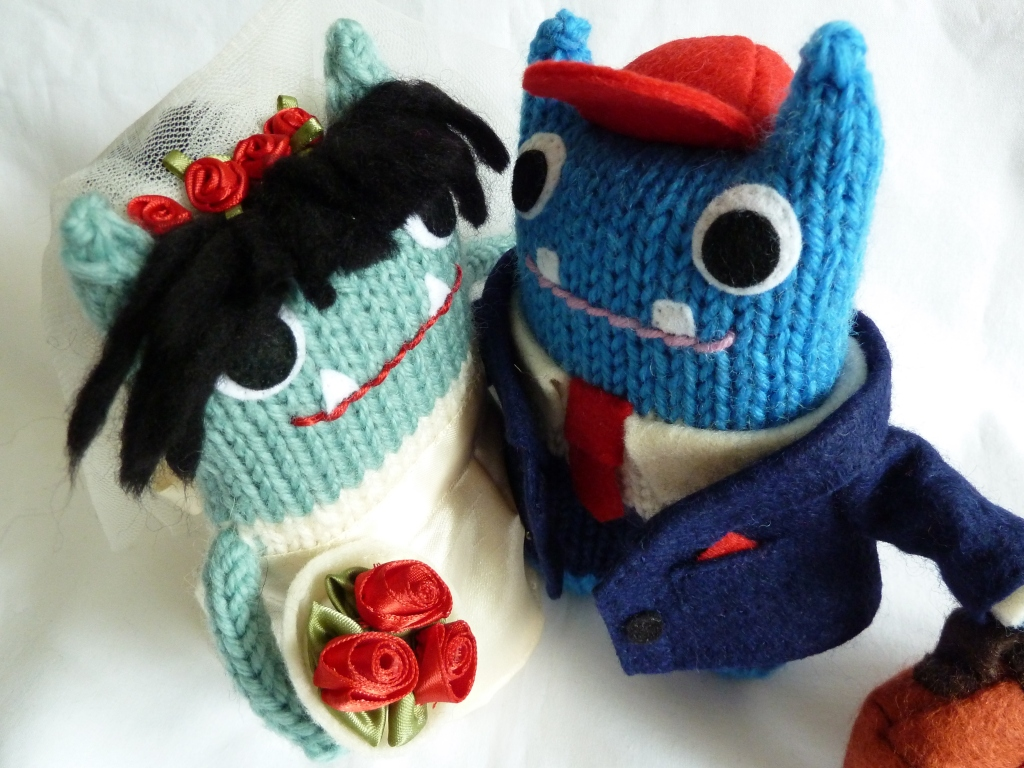 Another Charming Beastie Couple, by CrawCrafts Beasties