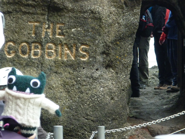 Paddy at the Entrance to The Gobbins - H Crawford/CrawCrafts Beasties