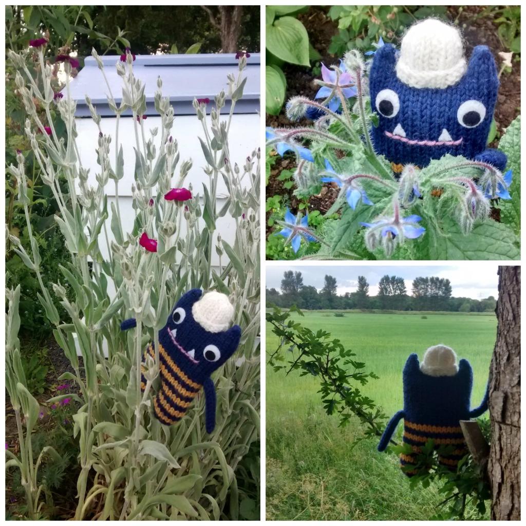 Bee Garden Collage - CrawCrafts Beasties