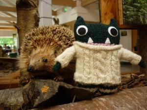 Paddy Hugs a Hedgehog - YEOWCH! H Crawford/CrawCrafts Beasties