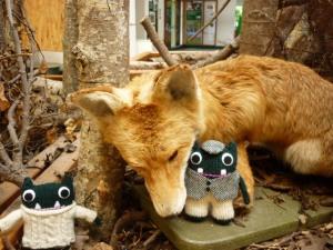 Paddy and Plunkett meet a Friendly Fox - H Crawford/CrawCrafts Beasties