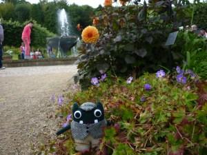 Plunkett in the Flowerbeds at Bangor Castle - H Crawford/CrawCrafts Beasties