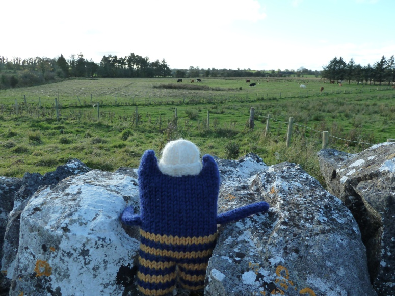 Explorer Beastie Admires the View from Lissonuffy - CrawCrafts Beasties