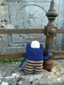 Explorer Beastie Inside the Old Church - CrawCrafts Beasties