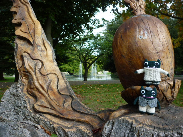 Paddy and Plunkett at the Sculpture Garden - H Crawford/CrawCrafts Beasties