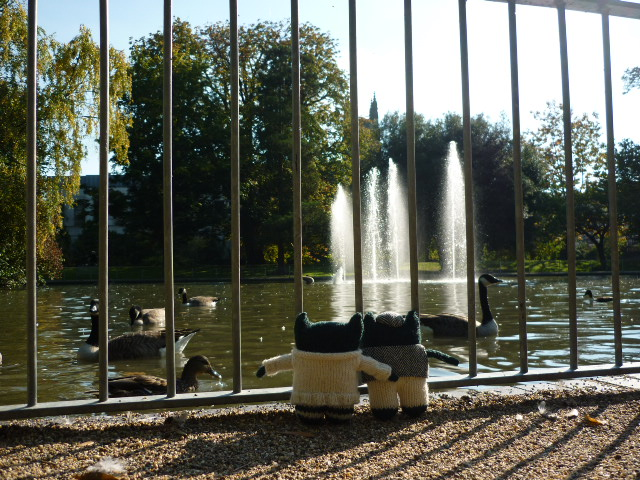 Feeding the Ducks at Jephson Gardens - H Crawford/CrawCrafts Beasties