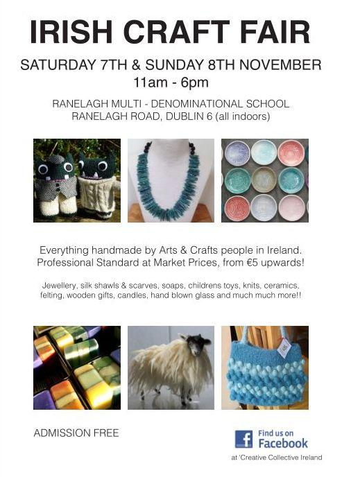 Ranelagh Craft Fair Poster - Creative Collective Ireland
