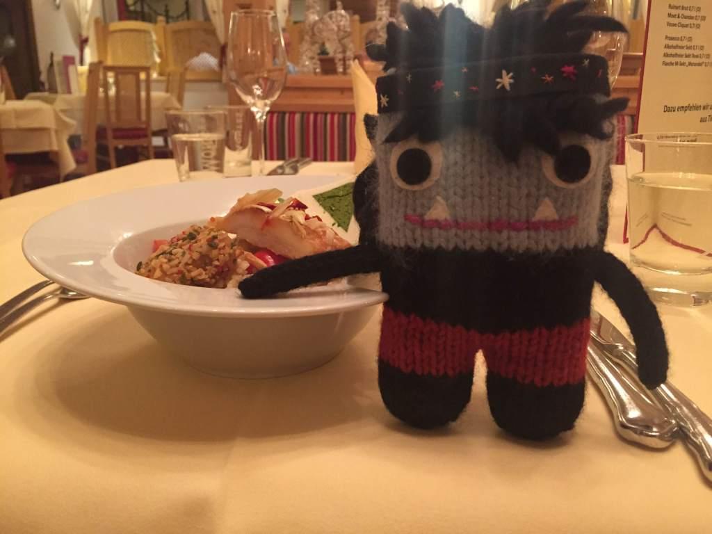 Dinner in the Ski Lodge - S Allen/CrawCrafts Beasties