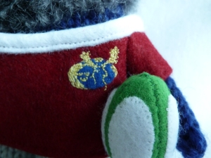 Antonello Beastie's Munster Logo and Rugby Ball - CrawCrafts Beasties
