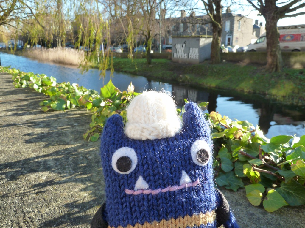 Explorer Beastie at the Canal - CrawCrafts Beasties