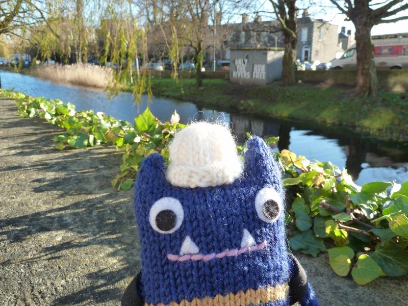 Explorer Beastie at the Canal - CrawCrafts Beasties