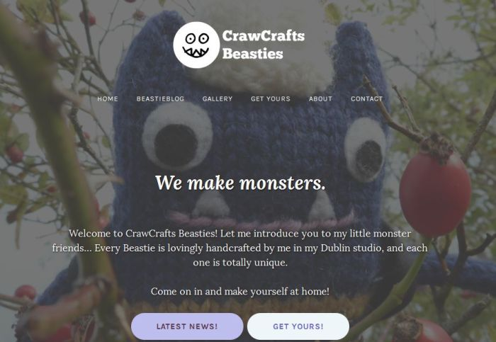 Our New Homepage - CrawCrafts Beasties
