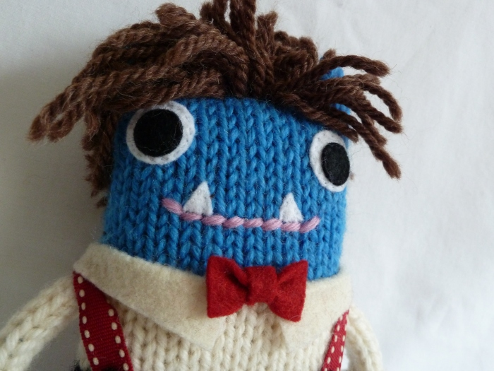 Doctor Who Beastie's Braces and Bow Tie, by CrawCrafts Beasties