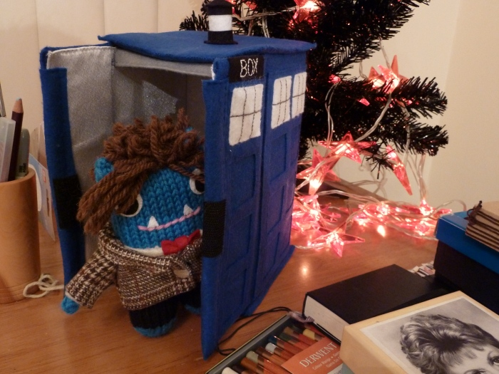 Doctor Who Beastie heading off to his Home Planet... CrawCrafts Beasties