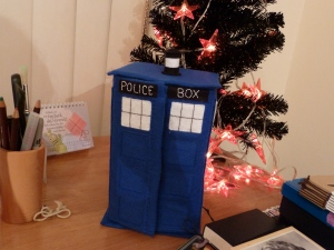 The Tardis, Finished Just in Time! CrawCrafts Beasties