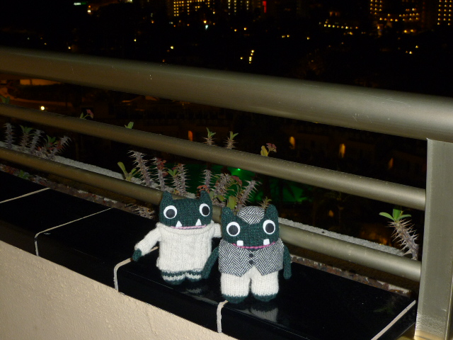 Paddy and Plunkett Arrive at the Hotel - H Crawford/CrawCrafts Beasties