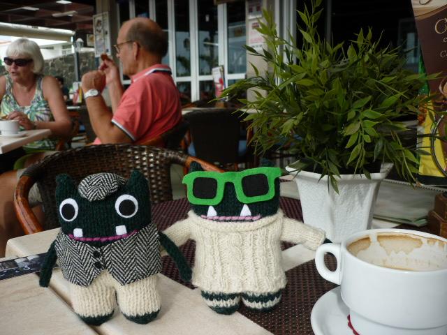 Caffeine Break for Paddy and Plunkett! H Crawford/CrawCrafts Beasties