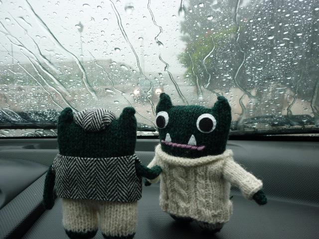 Beasties Sheltering From the Rain - H Crawford/CrawCrafts Beasties