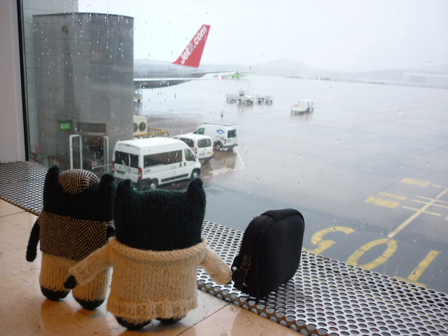 Paddy and Plunkett, Marooned at the Airport - H Crawford/CrawCrafts Beasties