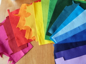 All the Colours of the Felty Rainbow! CrawCrafts Beasties