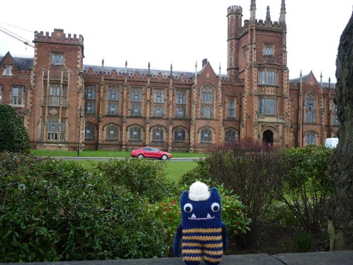 Explorer Beastie at Queen's University - CrawCrafts Beasties