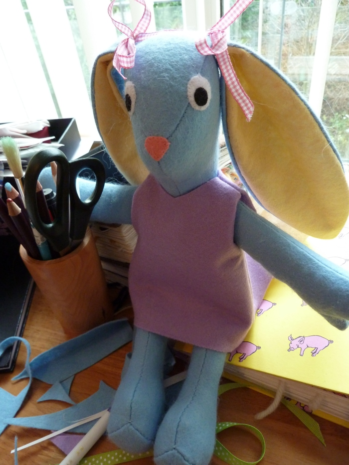 Felt Bunny (From an Abby Glassenberg Pattern) by CrawCrafts Beasties