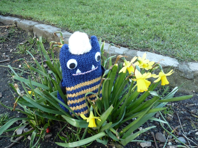 Explorer Beastie With Baby Daffodils - CrawCrafts Beasties