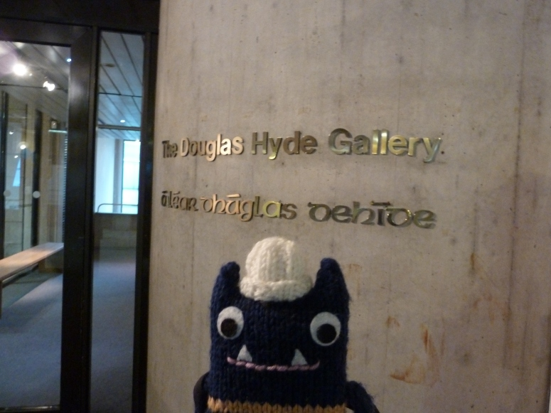 Explorer Beastie at the Douglas Hyde Gallery - CrawCrafts Beasties