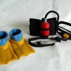 Diver Beastie's Complete Dive Kit, by CrawCrafts Beasties