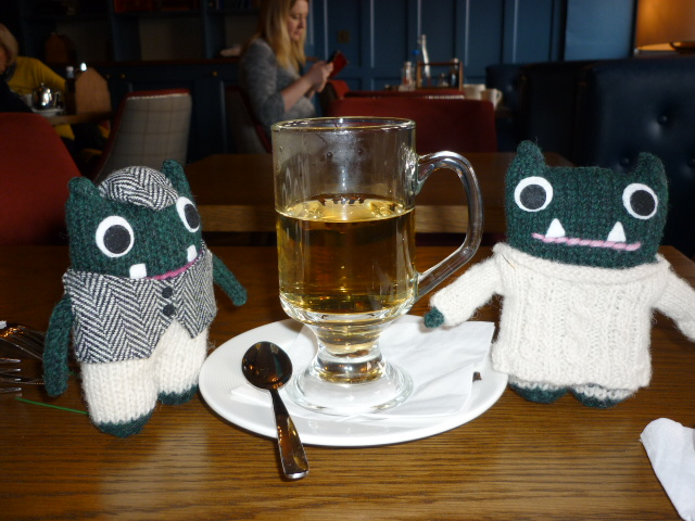Paddy and Plunkett Enjoy a Hot Whiskey - H Crawford/CrawCrafts Beasties